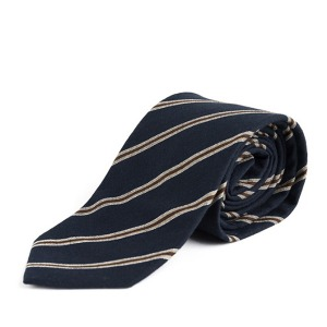 [와일드브릭스 넥타이] WILDBRICKS - BP STRIPE COTTON TIE (navy)
