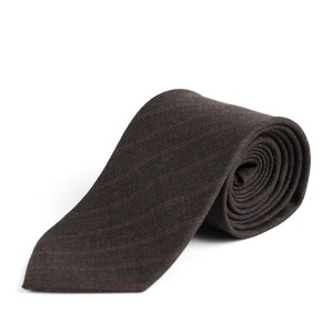 [와일드브릭스 울 넥타이] WILDBRICKS - RP STRIPE WOOL TIE (brown)