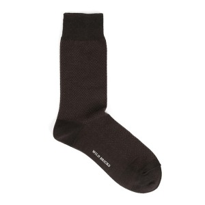 [와일드브릭스 양말] WILDBRICKS - HERRINGBONE DRESS SOCKS (brown)