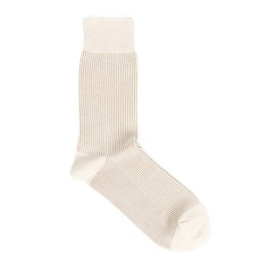 [와일드브릭스 양말] WILDBRICKS - STRIPE DRESS SOCKS (ivory)