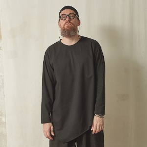 [스미스아머] SMITH ARMOR - SA ASYMMETRIC LONG SLEEVE T-SIRTS / BLACK