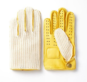 [인다이스 클래식 글러브] INDICE  - Leather KNIT Classic Summer Gloves(DEER/KNIT/Yellow)