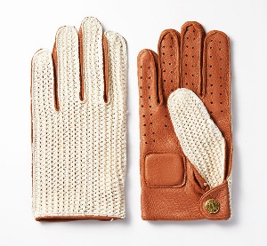 [인다이스 클래식 글러브] INDICE  - Leather KNIT Classic Summer Gloves(DEER/KNIT/Brown)