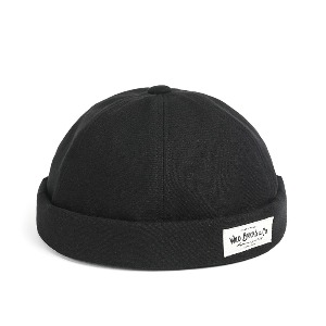 [와일드브릭스 브림리스캡] WILDBRICKS - BI OXFORD BRIMLESS CAP (black)