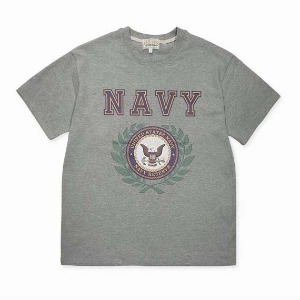 [그롭스 반팔 티셔츠] GROFS - US NAVY T-SHIRT (GRAY)