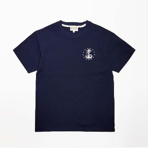 [그롭스 반팔 티셔츠] GROFS - U.S NAVY STAR ANKER T-SHIRT (NAVY)