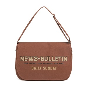 [와일드브릭스 뉴스보이백] WILDBRICKS - CANVAS NEWSBOY BAG (red brown)