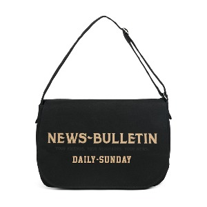 [와일드브릭스 뉴스보이백] WILDBRICKS - CANVAS NEWSBOY BAG (black)