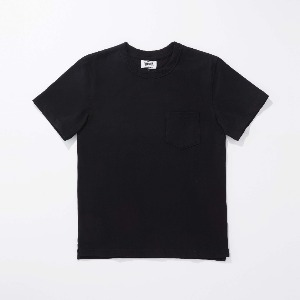 [인다이스 반팔셔츠] INDICE - Heavy Cotton T-shirt (Black)