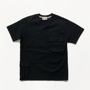 [그롭스 반팔 티셔츠] GROFS - MULTI POCKET T-SHIRT (BLACK)