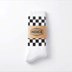 [인다이스 양말] - Terrycushion Checked Socks(WHITE)