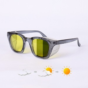 [에딜롯 윙글라스 방풍고글(변색렌즈)] EDIROT - 001 WING GLASSES CRYSTAL GRAY/YELLOW-KHAKI BROWN