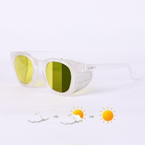 [에딜롯 윙글라스 방풍고글(변색렌즈)] EDIROT - 001 WING GLASSES MATTE CLEAR /YELLOW-KHAKI BROWN