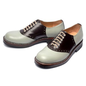 [루트원]ROUTE ONE-Saddle Shoes twotone - 02 / Grey x Brown