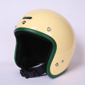 [에딜롯 노벨티 소두핏 오픈페이스 헬멧] EDIROT - NOVELTY OPEN FACE LEATHER CUSTOM HELMET (GREEN)