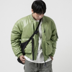 [엑스톤즈 호넷 레더 MA-1 자켓] XTONZ - XJ15 HORNET LEATHER MA-1 (OLIVE)