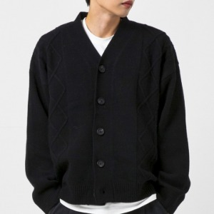 [엑스톤즈 울 가디건] XTONZ - FARRAGO WOOL CARDIGAN (BLACK)