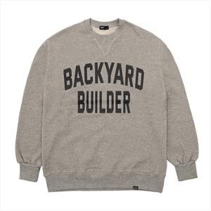 [백야드빌더 스웻셔츠] Backyard builder - BIG LOGO SWEAT GREY