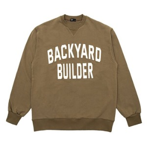 [백야드빌더 스웻셔츠] Backyard builder - BIG LOGO SWEAT (khaki)