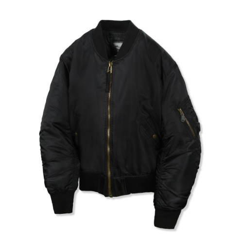 [그롭스 MA-1] GROFS - M50 WOOL MA-1 FLIGHT JACKET (BLACK)