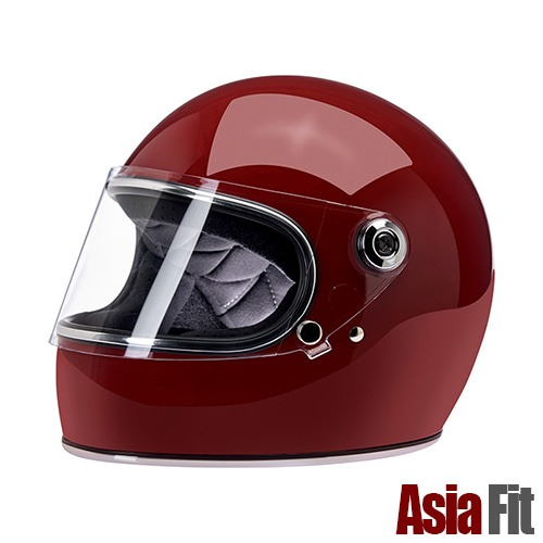 [빌트웰 그링고S 풀페이스 헬멧]BILTWELL - Gringo S - ASIAN FIT GLOSS GARNET