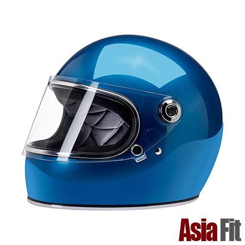 [빌트웰 그링고S 풀페이스 헬멧]BILTWELL - Gringo S - ASIAN FIT ASIA FIT  METALLIC PACIFIC BLUE