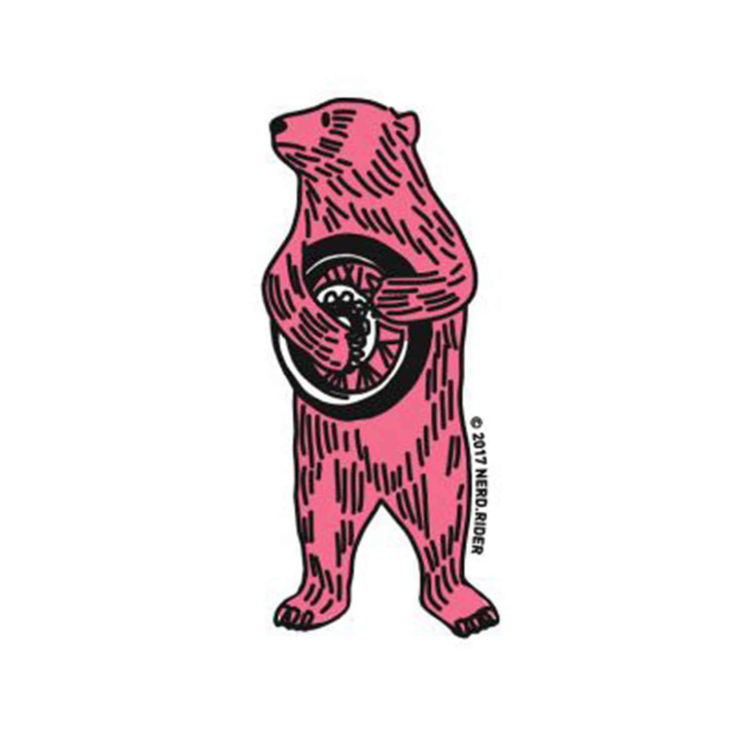 [너드 스티커] NERD - Spoke bear sticker