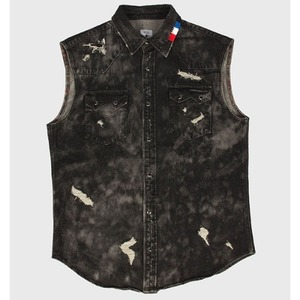 [모빈스알 베스트] MOVINS.R - GRUS OCTO JEWEL VEST WASHED BLACK