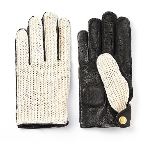 [인다이스 클래식 글러브] INDICE  - Leather KNIT Classic Summer Gloves(DEER/KNIT/Black)