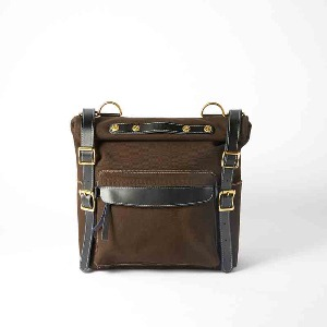 [인다이스 사이드백] INDICE - Canvas Motocycle Side Bag And one-touch bracket (Brown)