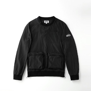 [인다이스 맨투맨] INDICE - Poly waterproof windbreaker TEE (BLACK)