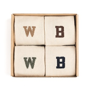 [와일드브릭스 양말] WILD BRICKS -WB TENNIS SOCKS SET (beige/brown/khaki/navy)