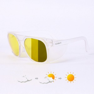 [에딜롯 윙글라스 방풍고글(변색렌즈)] EDIROT - 002 WING GLASSES MATTE CLEAR /YELLOW-KHAKI BROWN