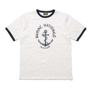 [블랙피피 반팔 티셔츠] BLACK P.P -  BLACKPP ANCHOR T-SHIRT WHITE