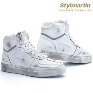 [스타일마틴 라이더 스니커즈] STYLMARTIN - EXCLUSIVE COLLECTION SNEAKERS TONY HOOK LTD WHITE