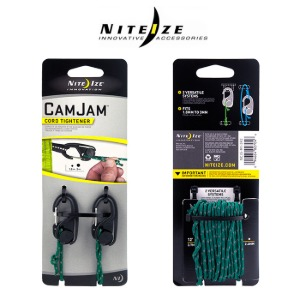 [나이트아이즈 캠잼 조임 코드(2팩)] NITEIZE - CamJam Small Cord Tightener (2PK+Rope)