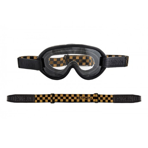 [에텐 고글] Ethen Scrambler Goggles - Check Black / Gold