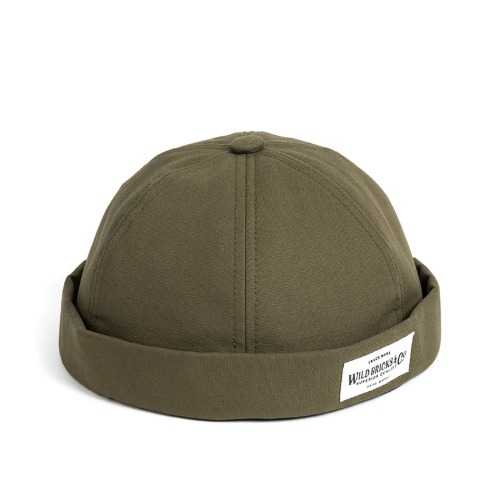 [와일드브릭스] WILD BRICKS - LB COTTON BRIMLESS CAP (khaki)