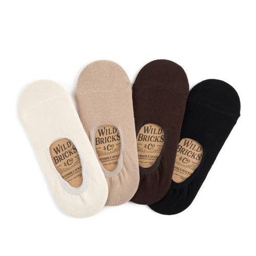 [와일드브릭스] WILD BRICKS - BS INVISIBLE SOCKS SET (ivory/beige/brown/black)