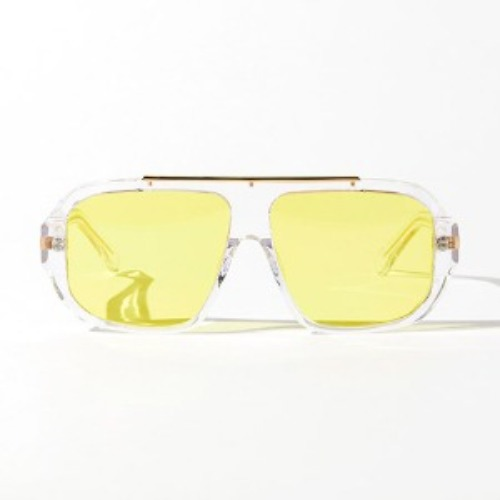 [인다이스 윈드 블럭 선글라스] INDICE - WIND BLOCK SUNGLASSES / CLEAR&YELLOW