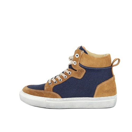 [헬스톤스 여성 라이더 스니커즈] HELSTONS - WOMEN RIDING SHOES MAYA GOLD BLUE
