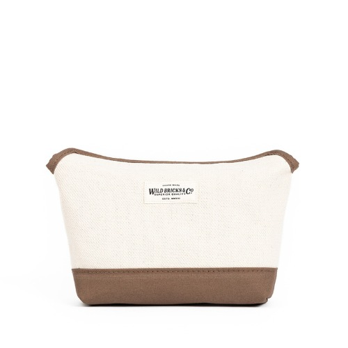 [와일드브릭스] WILD BRICKS - HEAVY CANVAS MAGNET POUCH (beige)