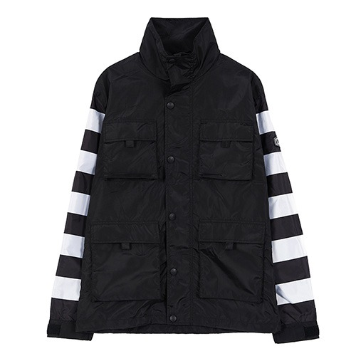 [인다이스 자켓] INDICE - NEW 777 Prisoner waterproof windbreaker (Black/Stripe)